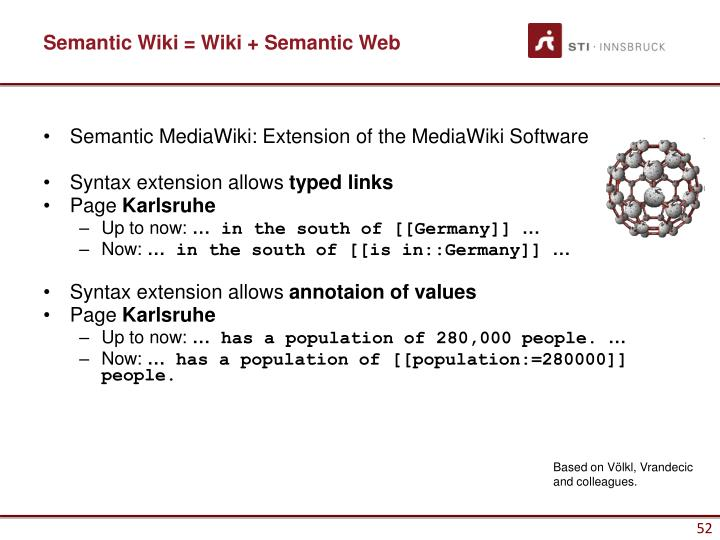 Semantic Wiki = Wiki + Semantic Web