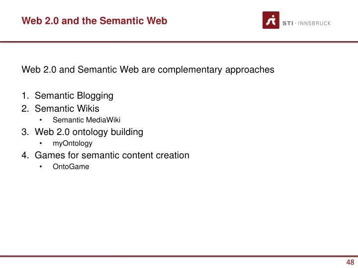Web 2.0 and the Semantic Web
