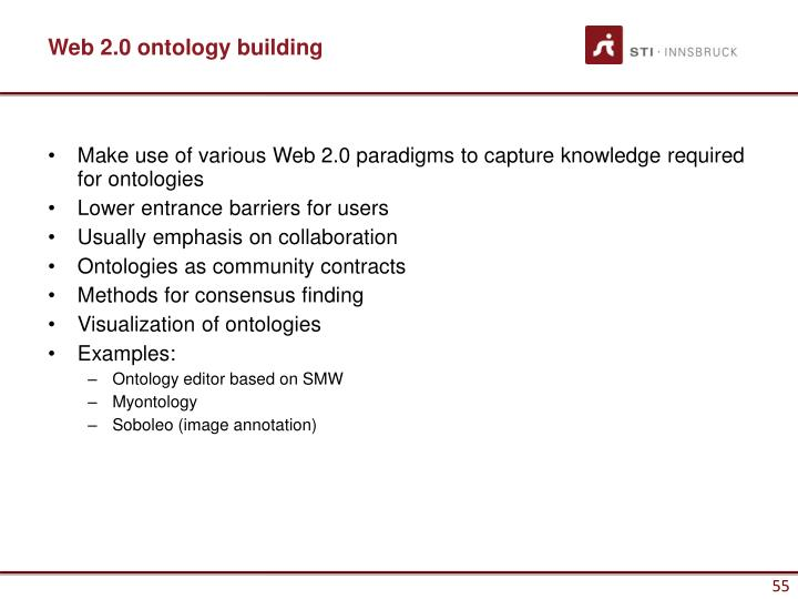 Web 2.0 ontology building