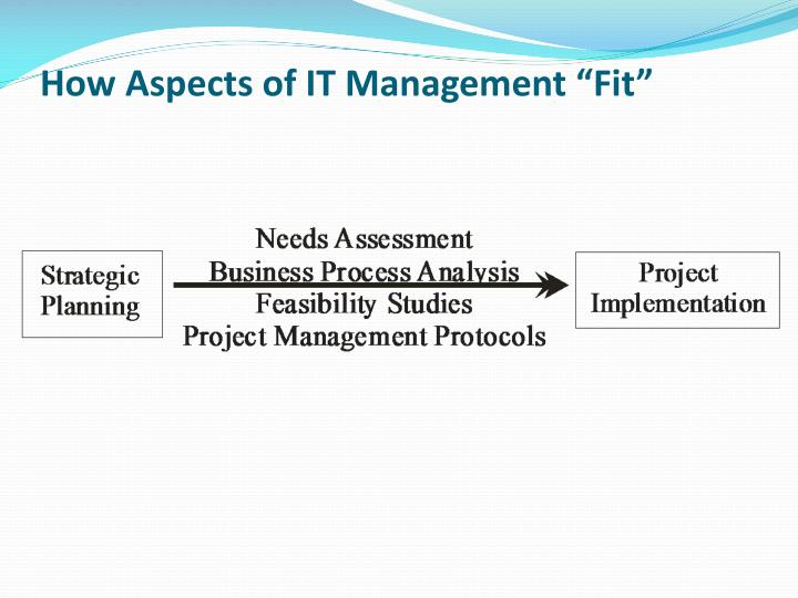 "How Aspects of IT Management ""Fit"""