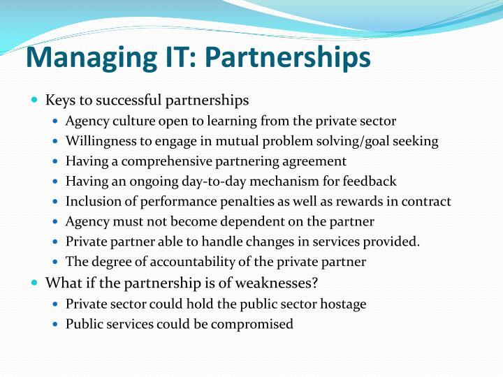 Managing IT: Partnerships