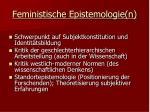feministische epistemologie n