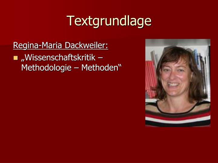 Textgrundlage