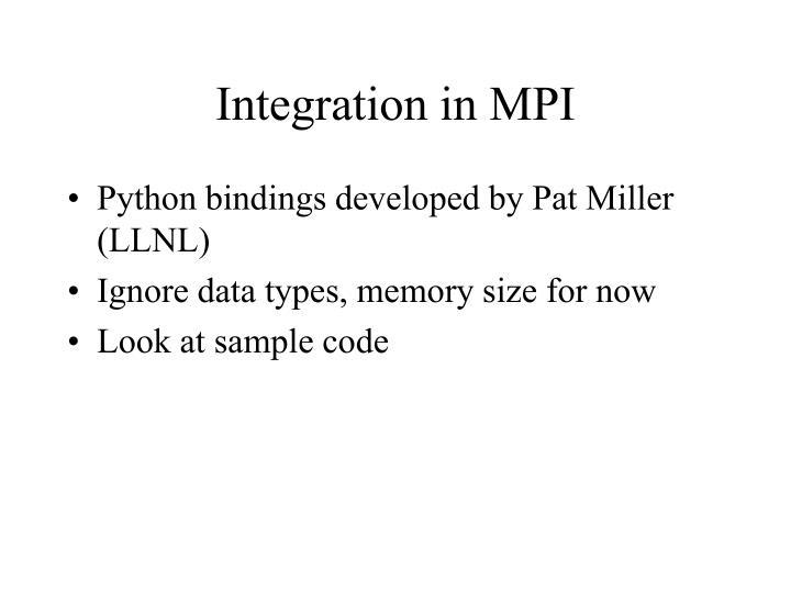 Integration in MPI