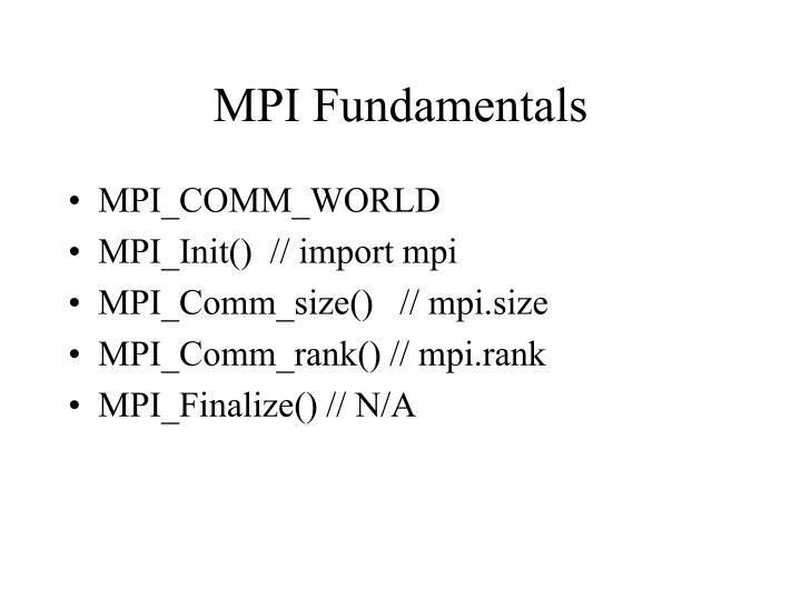 MPI Fundamentals