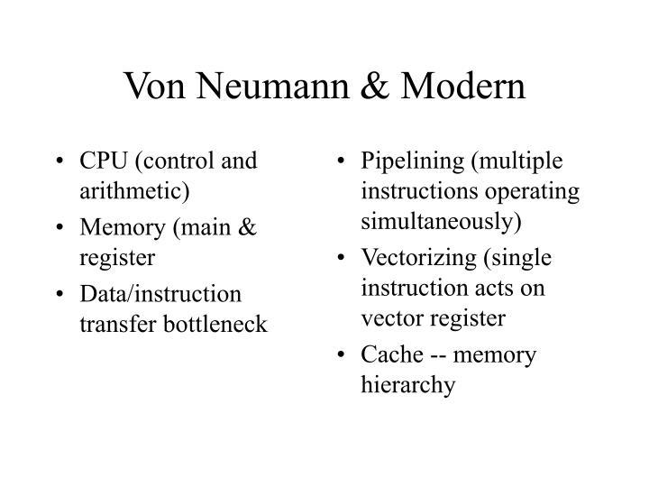 CPU (control and arithmetic)