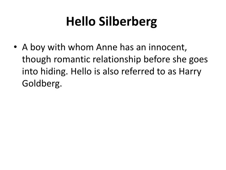Hello Silberberg