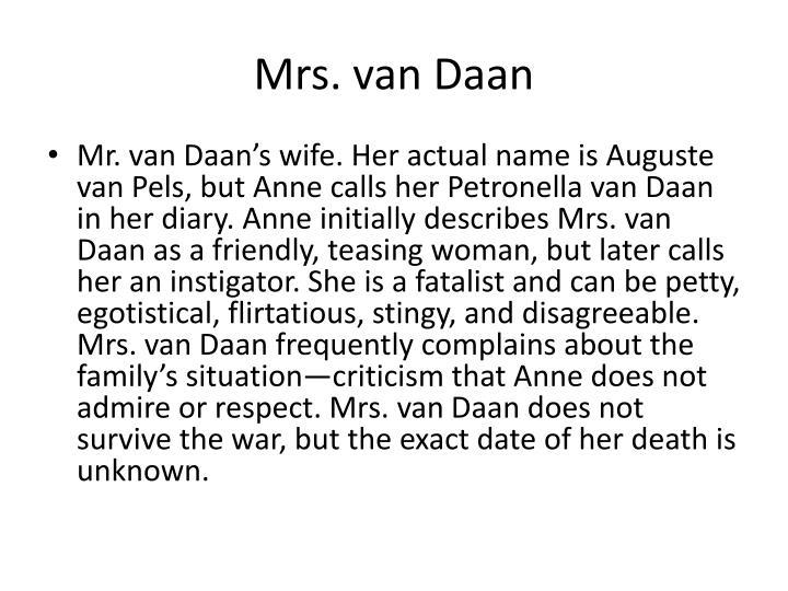 Mrs. van