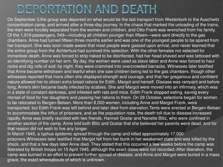Deportation and death