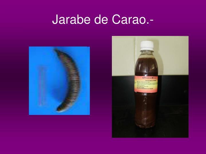 Jarabe de Carao.-