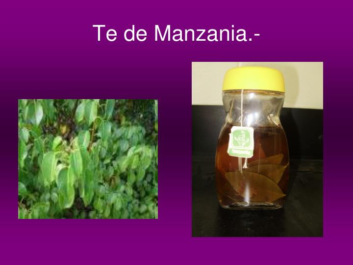 Te de Manzania.-