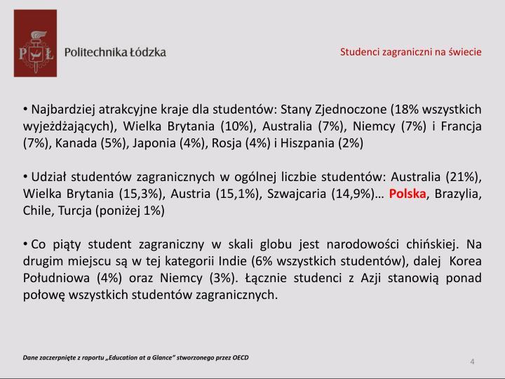 Studenci zagraniczni na świecie