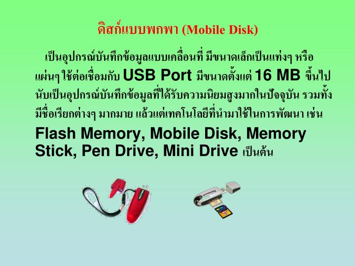 (Mobile Disk)