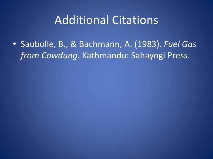 Additional Citations