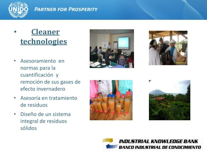 Cleaner  technologies