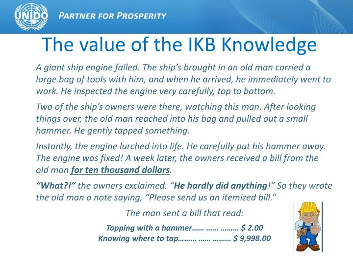 The value of the IKB Knowledge
