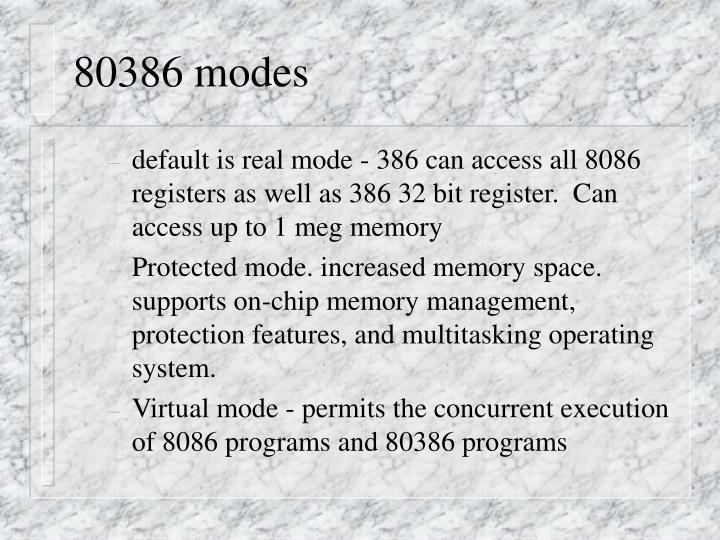 80386 modes