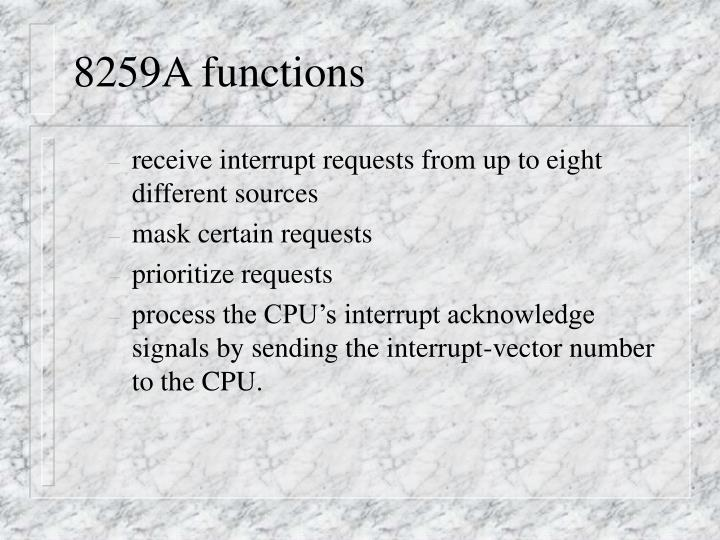 8259A functions