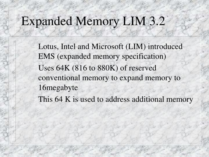 Expanded Memory LIM 3.2
