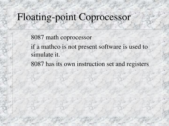 Floating-point Coprocessor