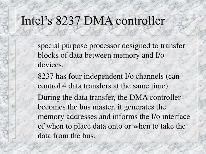 Intel's 8237 DMA controller