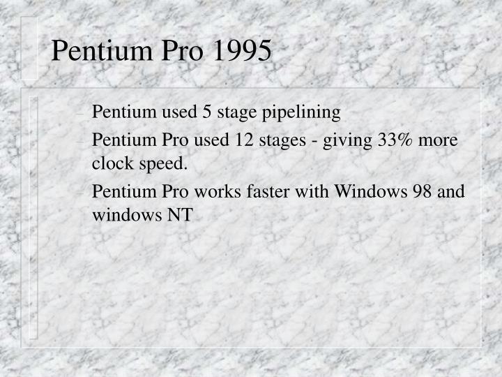 Pentium Pro 1995