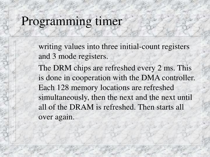 Programming timer
