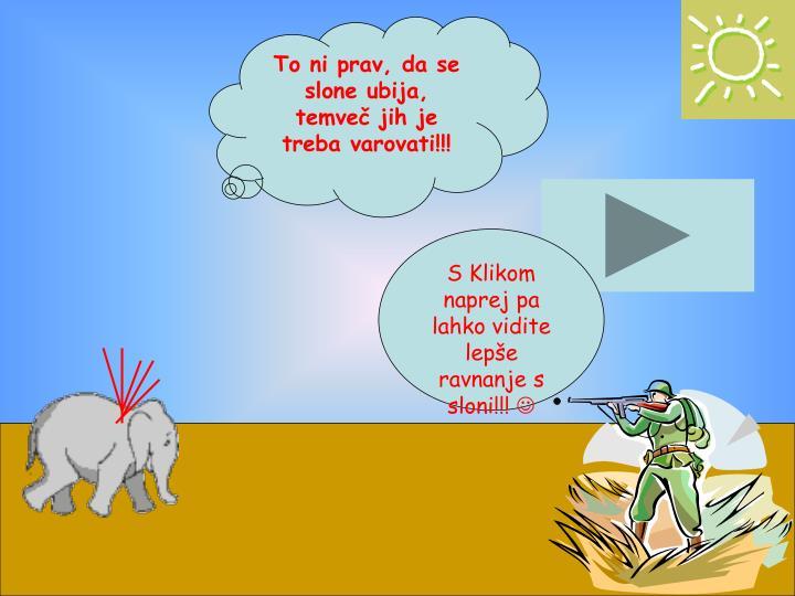 To ni prav, da se slone ubija, temveč jih je treba varovati!!!
