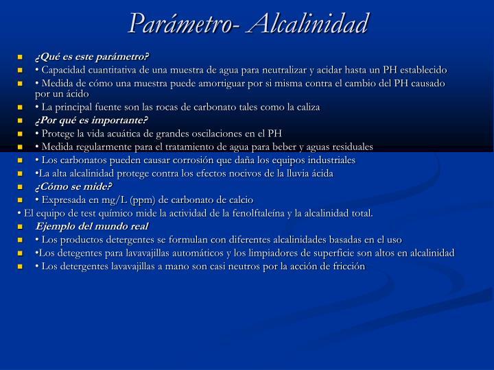 Parámetro- Alcalinidad