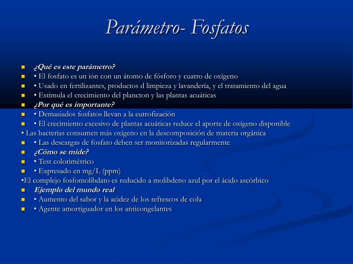 Parámetro- Fosfatos