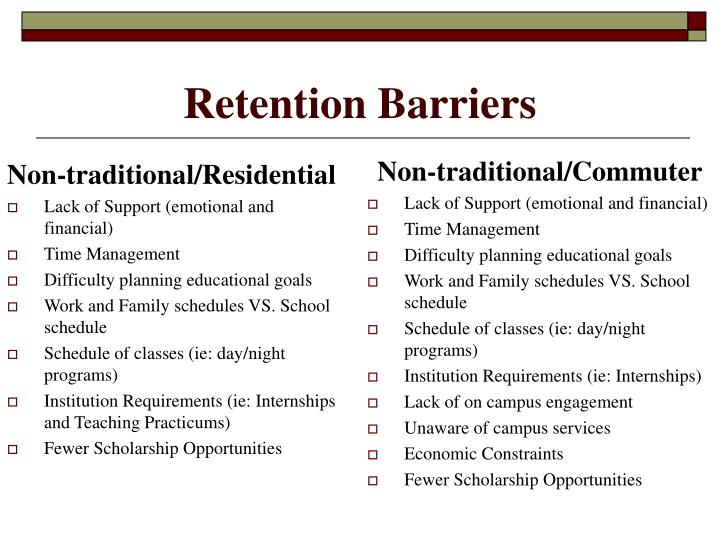 Retention Barriers