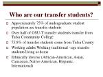 who are our transfer students