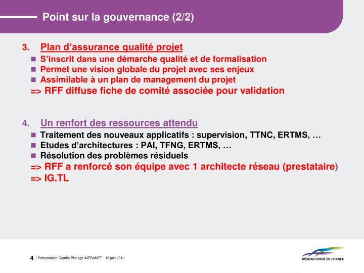 Point sur la gouvernance (2/2)