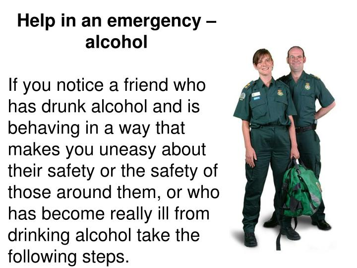 Help in an emergency – alcohol