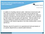 how does internal audit fit within the audit landscape