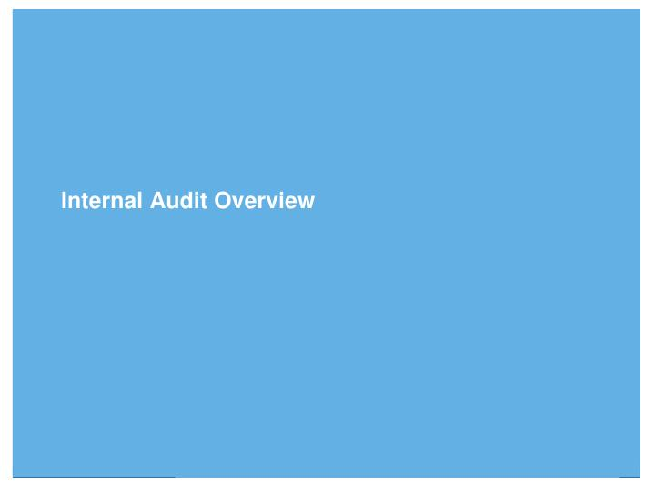 Internal Audit Overview