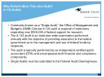 why perform more than one audit a 133 audits