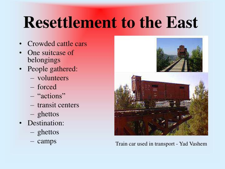 Resettlement to the East