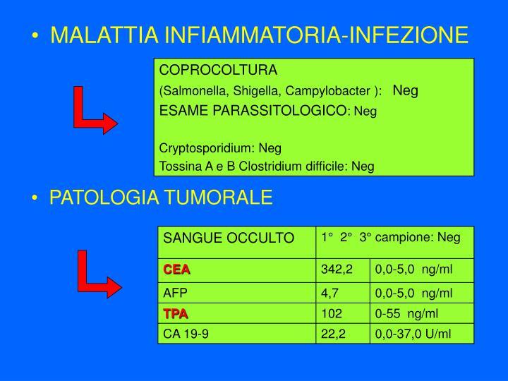 MALATTIA INFIAMMATORIA-INFEZIONE