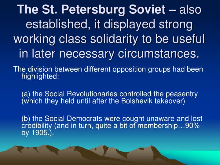 The St. Petersburg Soviet –