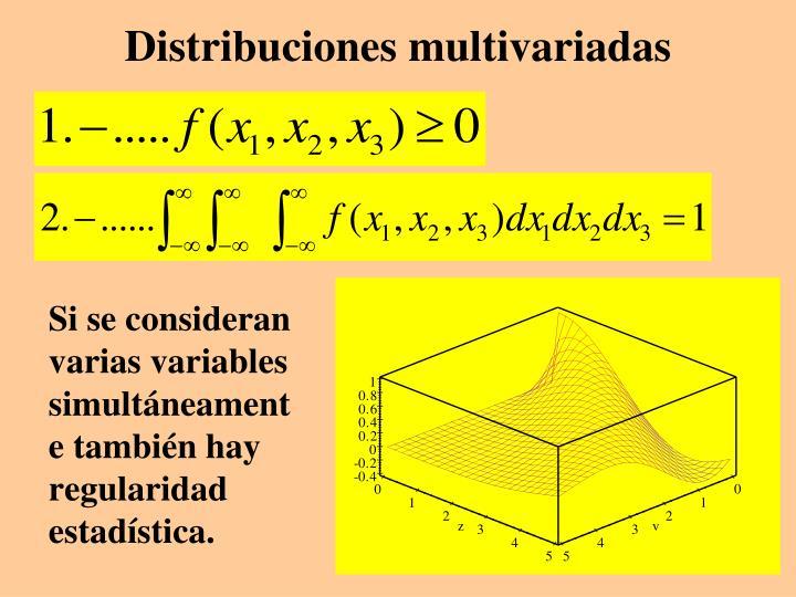 Distribuciones multivariadas
