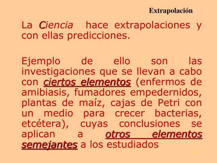 Extrapolación
