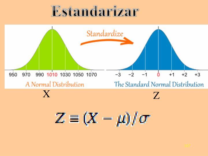 Estandarizar