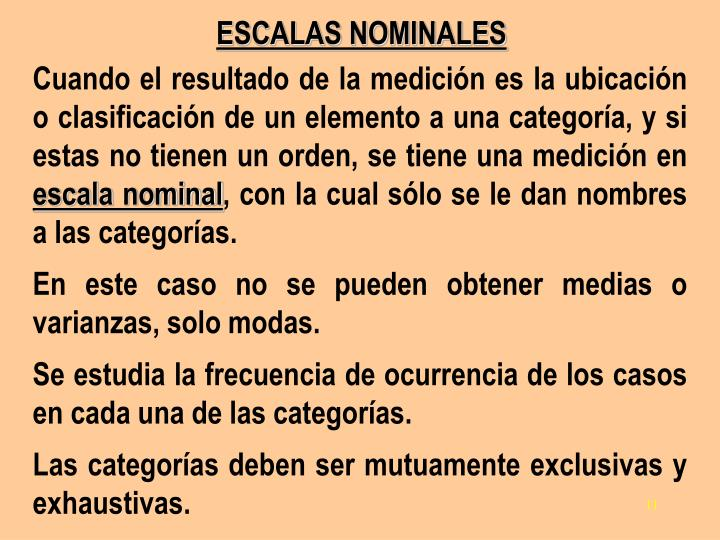 ESCALAS NOMINALES