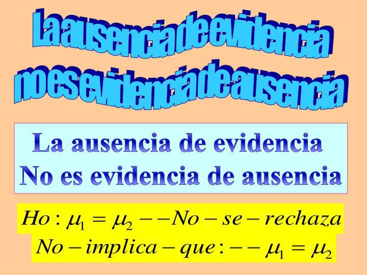 La ausencia de evidencia