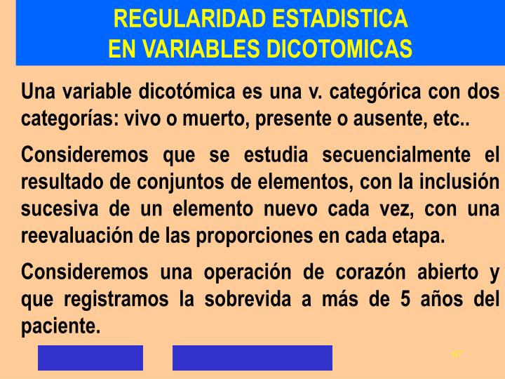 REGULARIDAD ESTADISTICA