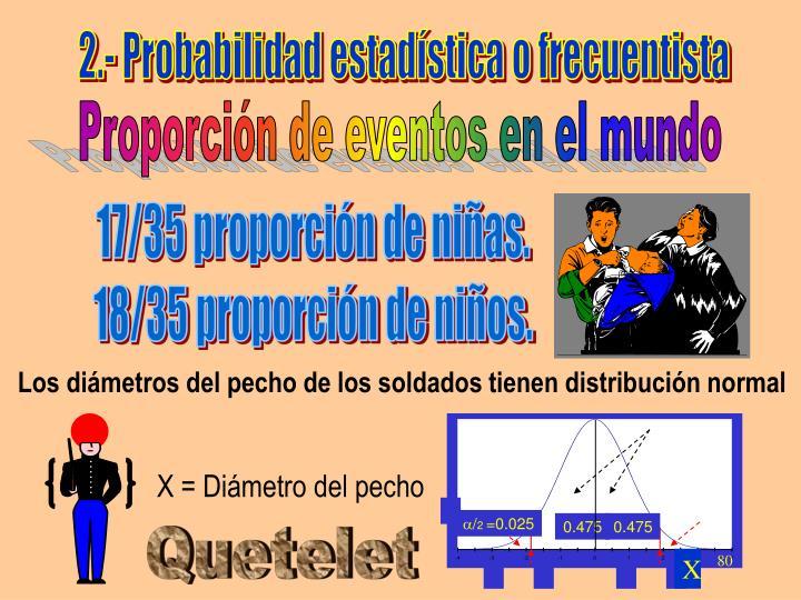 2.- Probabilidad estadística o frecuentista