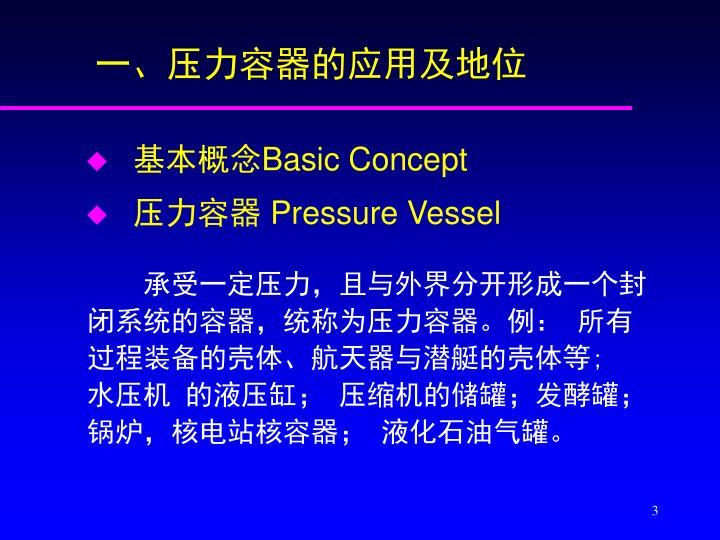 一、压力容器的应用及地位
