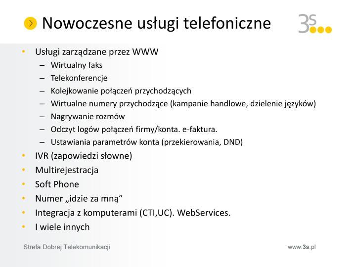 Nowoczesne usługi telefoniczne