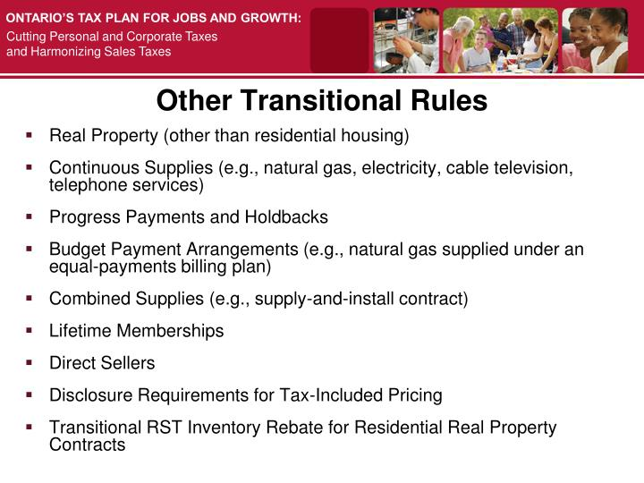 Other Transitional Rules